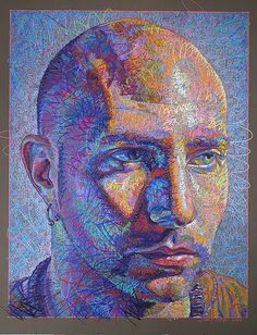 Color pencil professional artist, exhibition judge, and teacher John Smolko of Kent, Ohio. View work, art and contact John. Colored Pencil Portrait, Colored Pencil Artwork, Color Pencil Art, Colored Pencils, Ap Drawing, Painting & Drawing, Illustration Au Crayon, Pastel Portraits, Modern Portraits