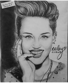 Miley Cyrus dibujo a lápiz