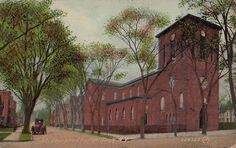 Postcard St Josephs Church Troy New York NY