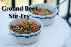 Quick Paleo Ground Beef Stir-fry