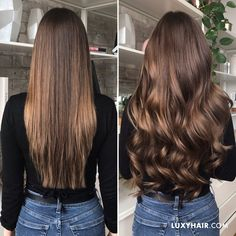 Balayage hair extensions chestnut brown balayage (color 220 g grams) - Luxy Hair Brown Hair Balayage, Brown Ombre Hair, Brown Blonde Hair, Ombre Hair Color, Brown Hair Colors, Blonde Color, Balayage Color, Hair Colours, Burgundy Hair