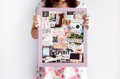 Creating a vision board can be a thrilling activity for a person that loves to get messy with magazines, glue, scissors and big dreams. But did you know that there are other elements that need to be considered when you create a vision board that will dete Sarah Prout, Collages, Diys, Goal Board, Creating A Vision Board, Inspiration Boards, Board Ideas, Career Inspiration, Bedroom Inspiration