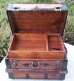 Desktop Size Restored Antique Trunk Original by ThePiratesLair