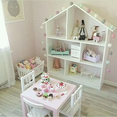 sweet is this play room set-up for a little girl? How sweet is this play room set-up for a little girl?How sweet is this play room set-up for a little girl? Baby Bedroom, Girls Bedroom, Bedroom Ideas, Childrens Bedroom, Room Baby, Bedroom Themes, Bedroom Designs, Bedroom Decor, Deco Kids