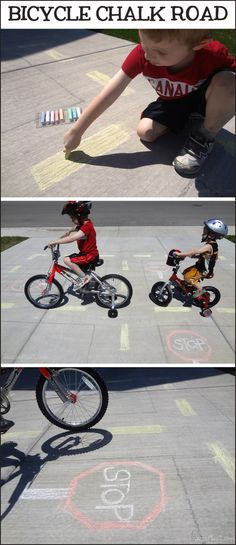 4 Activities to Help Teach Your Child Summer Safety - Bike Chalk Road *What a great resource for kids and parents