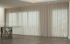 Drapes Curtains From Tips On How To Hang Curtain And Drapery Like A Designer . STOP Making Wall Holes While Hanging Curtains Drapes: 4 . Home Design Ideas Floor To Ceiling Curtains, Wave Curtains, Curtains With Blinds, Linen Curtains, Contemporary Apartment, Modern Contemporary, Master Bedroom Closet, Curtain Designs, Window Treatments