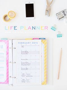 Getting organized in 2014 // Life Planner by Crystal Wilkerson. Like the monthly summary. Small Business Organization, Calendar Organization, Budget Organization, Study Planner, Planner Ideas, Home Binder, Printable Planner, Printables, Bullet Journal