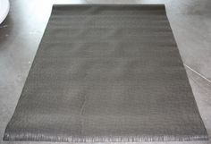 """Chocolate Bamboo Woven Vinyl Rug 4'4"""" x 6' by Chilewich NEW"""