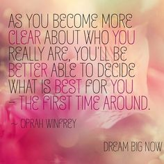 As you become more clear about who you really are, you'll be better able to decide what is best for you - The first time around. - Oprah Winfrey  For more inspiration and ultimate life visit our website ==>> www.GhramaeJohnson.com.  #lifecoach #confidenceboost #achievementunlocked #belifollower #kindness #coach #OprahWinfrey #longevitynow #lifecoaching #fear #successmindset #confidenceboost #music #confidence #heal #hustle #selfimprovement #confidence #phychotherapy #decision #GhramaeJohnson