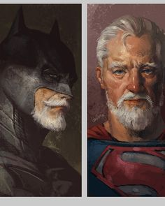 We can't deny the fact that we are used to seeing our DC heroes in a good  light: young, strong, fit, powerful, attractive, and let's not forget,  deserving to have posters of them hung on our walls. But can you imagine  what they would look like at retirement age? Can you think of their  wrinkled skin and white hair when they get old? Kind of funny, isn't it?  Eddie Liu, an artist from Shanghai, has his own thoughts about the aged  versions of superheroes. Liu has interpreted the images of…