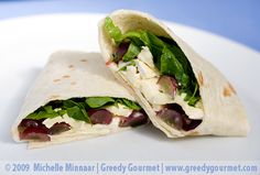 Brie & Grape Tortilla Wraps