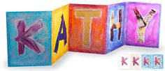 Art Projects for Kids: Collage Name Card
