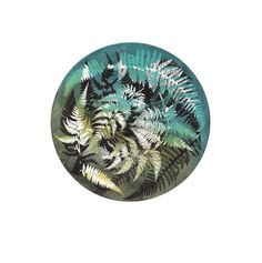 Items similar to Turquoise and Yellow Fern circular wall decor. Giclee Print from original botanical nature fine art by Stef Mitchell on Archival paper on Etsy Monoprint Artists, Printmaking, Ash Leaf, Textiles, Nature Prints, Handmade Books, Shades Of Yellow, Patterns In Nature, Botanical Art