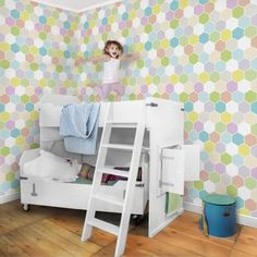 Pattern wallpaper for kids - Stars white - non-woven wallpaper Breit - Wallpaper Ideas Sweet Home, Pattern Wallpaper, Wallpaper Ideas, Toddler Bed, Disney, Table, Kids, Furniture, Home Decor