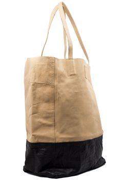 Black and Tan Bucket Bag