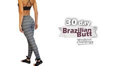 Here is a 30 day Brazilian butt workout challenge that will work your glutes from every angle by developing a backside with a natural well-rounded shape!