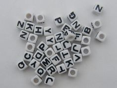 BULK 300 Acrylic assortment alphabet beads 7 x by nicoledebruin