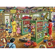 White Mountain Puzzles The Toy Store - 1000 Piece Jigsaw Puzzle