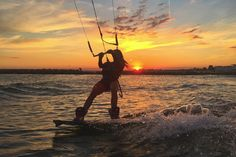 Charlotte Consorti Sunset Kitesurfing Session