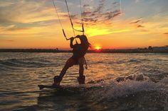Charlotte Consorti Sunset Kitesurfing Session