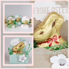 crehand Lindt Mini Osterhase Verpackung Stampin Up
