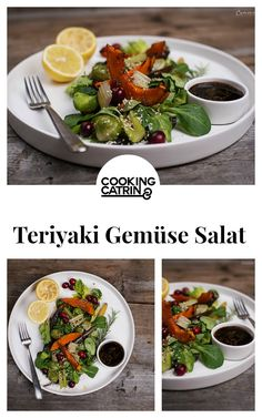 Gemüse Salat, Teriyaki Gemüse, vegetable salad, teriyaki vegetable, veggie, Lunch, Dinner, Mittagessen, Abendessen, gesund, healthy, veggies...http://www.cookingcatrin.at/gemuesesalat-mit-teriyaki-sesam-marinade/