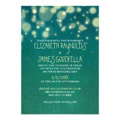 Rustic Garden Light Wedding Invitations