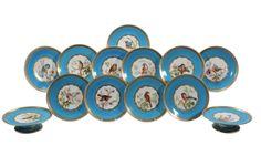 Set de sobremesa em porcelana Inglesa do sec.19th, 3,400 USD / 3,100 EUROS / 11,650 REAIS / 20,890 CHINESE YUAN soulcariocantiques.tictail.com