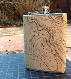 Topographic Flask by Chris D'Adamo on Scoutmob Shoppe