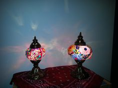 Mixed Colors Mozaic Lamps