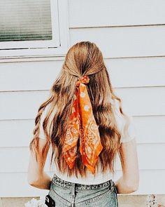 Bandana Hairstyles, Pretty Hairstyles, Braided Hairstyles, Fashion Hairstyles, Simple Hairstyles, Teen Hairstyles, Hair Scarf Styles, Curly Hair Styles, How To Lighten Hair