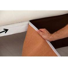 Plateforme cache sommier Peach Skine blanc 90 x 190 cm