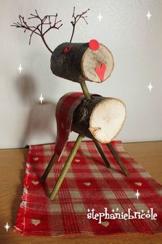 TUTO - DIY - Faire un renne en bois pour décorer la table de noël ou le sapin
