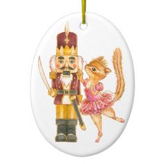 Nutcracker Ballet Oval Ornament