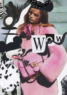 Mixed Media Fashion Collage by Rebecca Coltorti | Gucci Inspired