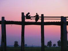 Sunset at U- Bein- Bridge, Amarapura, Myanmar Inle Lake, Yangon, Mandalay, Buddhism, Bridge, Wings, Album, Sunset, Travel Tips