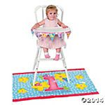 Girl's First Birthday High Chair Set