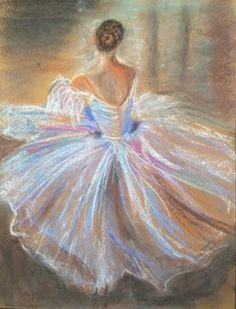 Ballerina Painting, Ballerina Art, Ballet Art, Acrilic Paintings, Watercolor Paintings, Dancer Drawing, Dance Paintings, Chalk Pastels, Dance Art