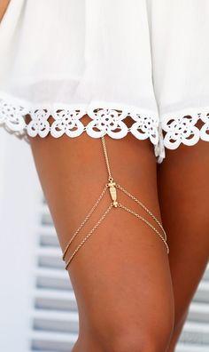 Mura Online Fashion Boutique   Talulah Leg Chain