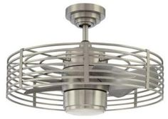 Enclave Satin Nickel Ceiling Fan - contemporary - ceiling fans - Home Depot