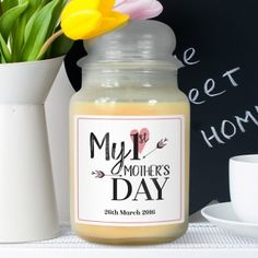 My 1st Mother's Day Personalised Vanilla Cupcake Large Candle Jar