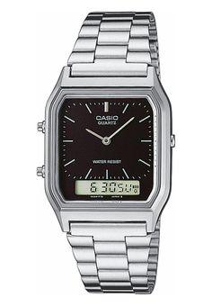 Casio Uhr silberfarben/schwarz Accessoires bei Zalando.de | Accessoires jetzt versandkostenfrei bei Zalando.de bestellen!