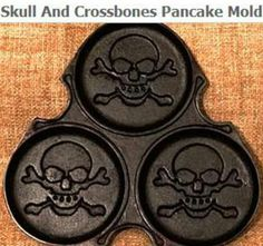 Joe Sandor is raising funds for Pirate Pancake Griddle! Skull and Crossbones Pancakes on Kickstarter! Introducing the Pirate Pancake Griddle. Make SKULL & CROSSBONES Pancakes. Skull Decor, Skull Art, Kitchen Items, Kitchen Gadgets, Kitchen Things, Kitchen Stuff, Kitchen Decor, Pancake Pan, Skulls