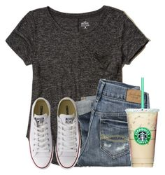 """I have a cold...."" by flroasburn ❤ liked on Polyvore featuring Hollister Co., Abercrombie & Fitch and Converse"