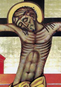 Kiko Arguello Christian Paintings, Christian Art, Anima Christi, Biblical Art, Orthodox Icons, Sacred Art, Deities, Sacramento, Jesus Christ