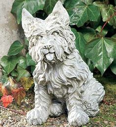 Weather-Durable 'Loyal Westy' Garden Statue with Hand-Finished Details by Wind & Weather®. $99.95. Cast in pecan shell, marble and resin compound. West highland terrier statue. Life-size with hand-finished details. Made for all seasons of weather. Artisans create this life-sized pup to capture the spirited personality and distinctive white coat of the West Highland Terrier. Cast in a sturdy pecan shell, marble and resin compound, he will withstand seasons of weathe...
