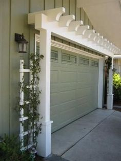 Garage Door Arbor - great way to increase curb appeal by mercedes