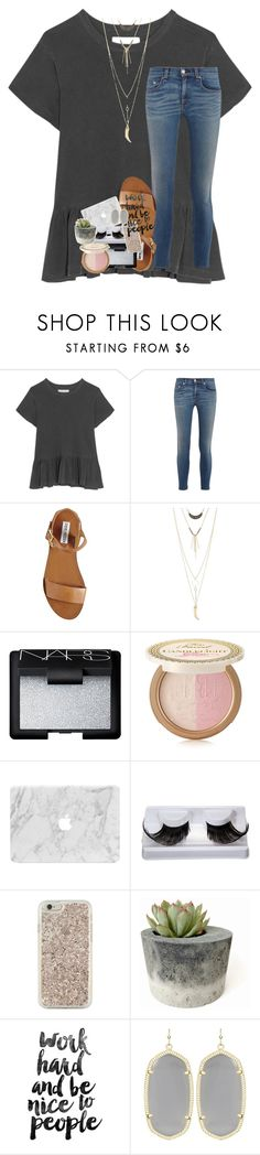 """""""push and pull like a magnet do"""" by lindsaygreys ❤ liked on Polyvore featuring The Great, rag & bone, Steve Madden, Charlotte Russe, NARS Cosmetics, Too Faced Cosmetics, Kate Spade and Kendra Scott"""