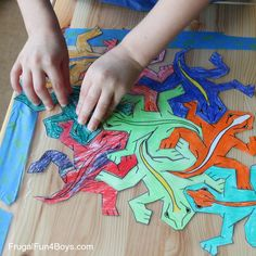 Print and Color Tessellations Puzzles