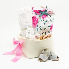 282c06f56e66 Spring Flowers Baby Basket featuring Petit Bateau – Bonjour Baby Baskets - Luxury  Baby Gifts Unique